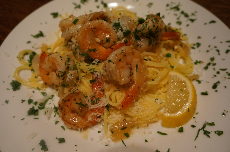 Shrimp Scampi Plated